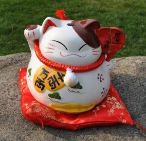 新款招财猫陶瓷储蓄罐...