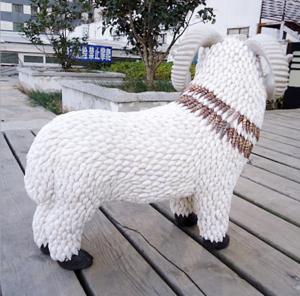 贝壳生肖羊工艺品 家...