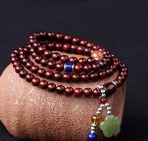 印度小叶紫檀经典手链...