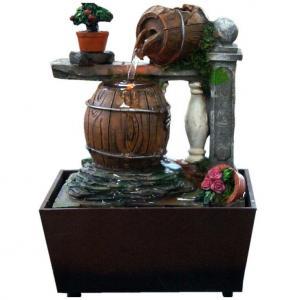 欧式木桶创意喷泉家居...