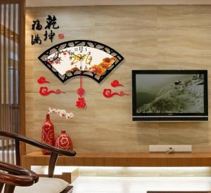 中式挂钟现代创意客厅...