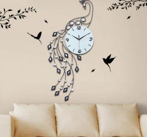 大孔雀创意客厅挂钟 ...