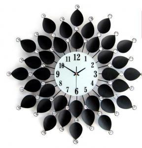 铁艺镶钻时钟 金属工...