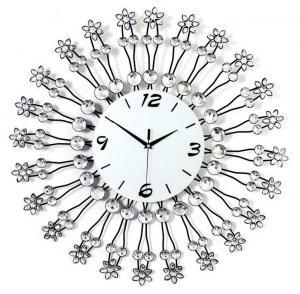 铁艺镶钻挂钟 金属工...