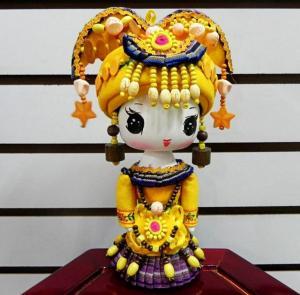 大号德昂族民族娃娃 ...