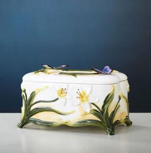 蝶舞馨兰抽取式纸巾盒...