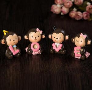 小猴树脂装饰摆件 家...