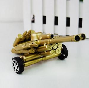 子弹壳工艺品 双炮模...
