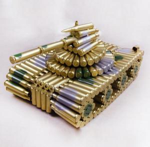 转盘大坦克弹壳模型玩...