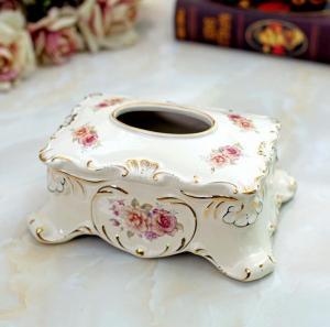 创意家居象牙瓷抽纸盒...
