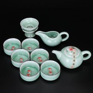 金鱼青釉茶具 茶具艺...