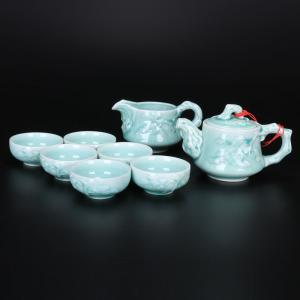 青瓷松树茶具 茶具艺...