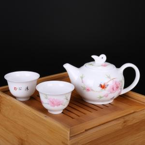 4头手绘茶具(竹质)...