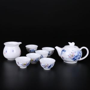 8头釉中彩茶具(和为...