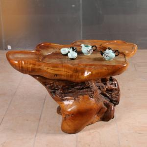 根雕茶桌 樟木 根雕...
