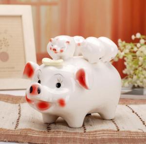 存钱罐猪 陶瓷工艺品