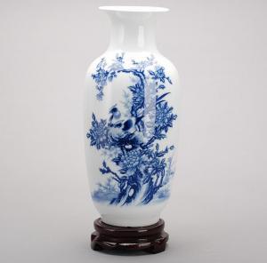 仿古中式家居摆件青花...