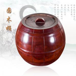 《圆木桶》根雕艺术品