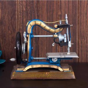 仿古缝纫机摆件 金属...