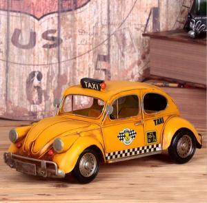 复古的士小汽车模型 ...