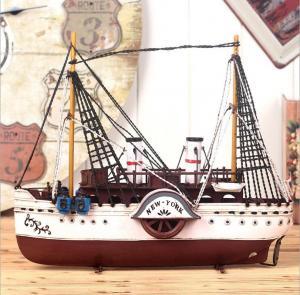 铁皮帆船模型 金属工...