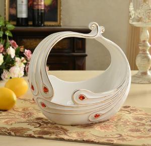 创意陶瓷欧式水果篮 ...