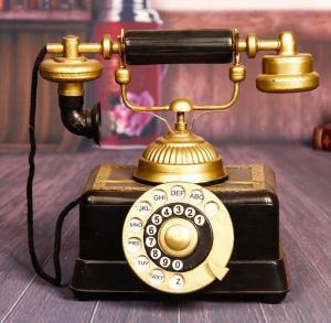 复古电话机模型摆件 ...