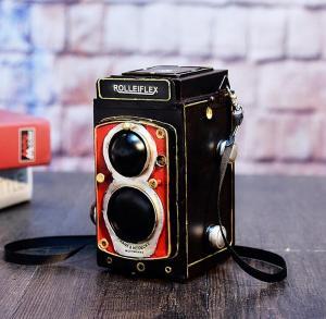 复古老式照相机模型摆...