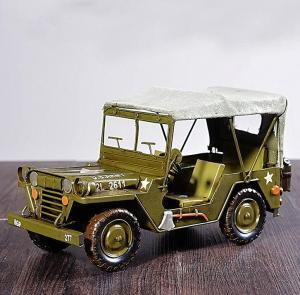 复古军车卡车模型摆件...