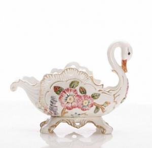 欧式陶瓷天鹅大果盘 ...