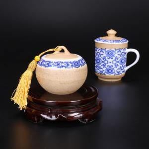 仿陶青花茶具 茶具艺...