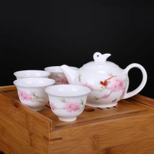 6头手绘茶具(竹质茶...