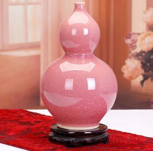 结晶釉花瓶 陶瓷工艺...