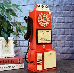 电话摄影道具复古装饰...