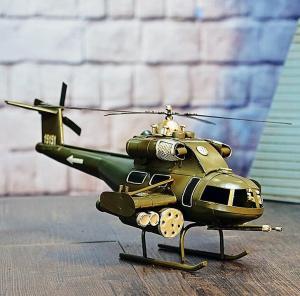 复古铁皮美式武装直升...