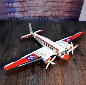 复古小型客机模型 金...