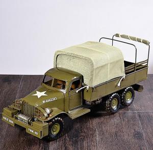金属仿古模型军用卡车...
