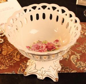 欧式陶瓷雕通水果盘 ...