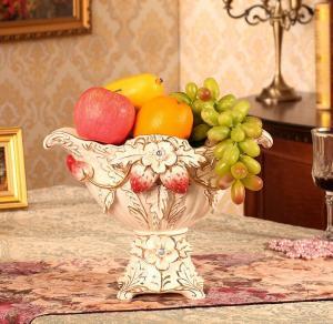 欧式果盘奢华高档陶瓷...