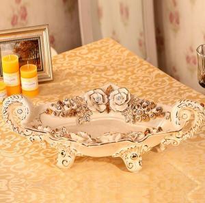 时尚奢华陶瓷水果碗盘...