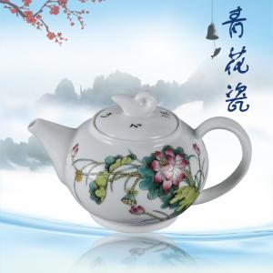 8头手工粉彩功夫茶具...