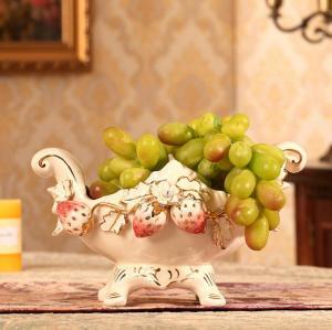 欧式高档陶瓷水果碗盘...