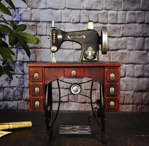 复古缝纫机模型摆件 ...