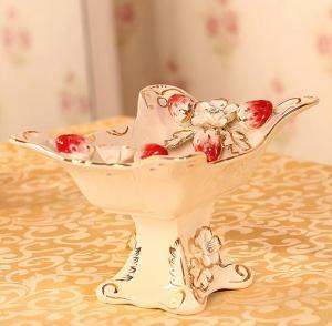 创意茶几陶瓷果盆 陶...