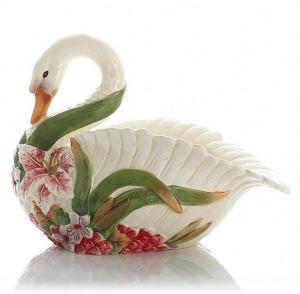 美式田园果盆陶瓷百合...